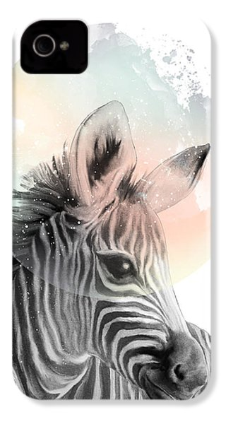 Zebra // Dreaming IPhone 4 Case by Amy Hamilton