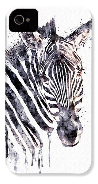 Zebra Head IPhone 4 Case by Marian Voicu
