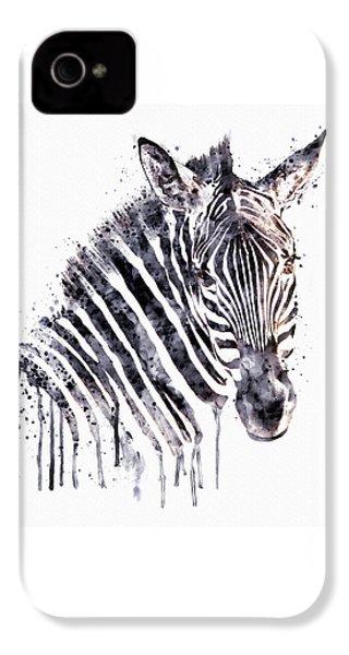 Zebra Head IPhone 4 / 4s Case by Marian Voicu