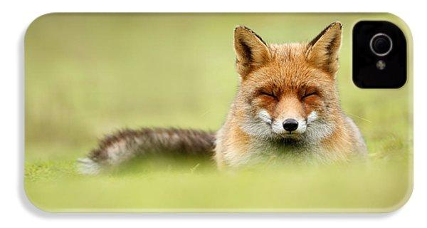 Zen Fox Series - Zen Fox In A Sea Of Green IPhone 4 Case