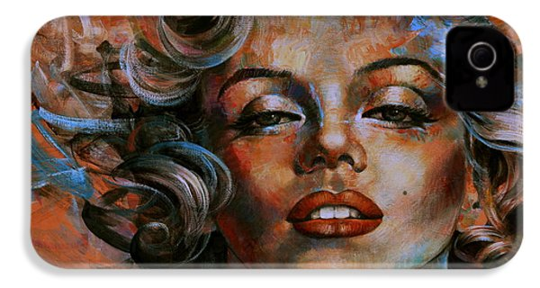 Marilyn Monroe IPhone 4s Case by Arthur Braginsky