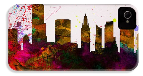 Miami City Skyline IPhone 4s Case by Naxart Studio