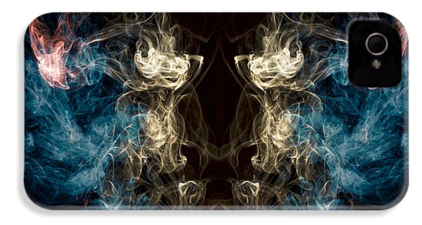 Minotaur Smoke Abstract IPhone 4s Case by Edward Fielding