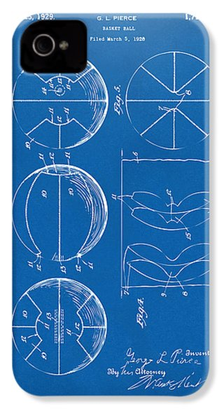 1929 Basketball Patent Artwork - Blueprint IPhone 4s Case by Nikki Marie Smith