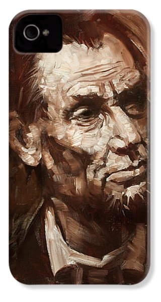 Abraham Lincoln IPhone 4s Case by Ylli Haruni