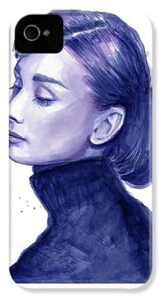 Audrey Hepburn Portrait IPhone 4s Case by Olga Shvartsur