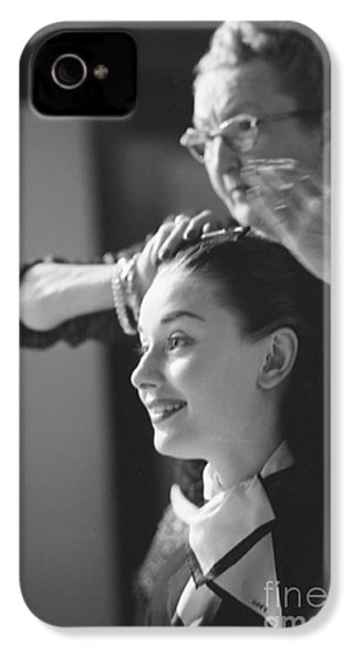 Audrey Hepburn Preparing For A Scene In Roman Holiday IPhone 4s Case by The Harrington Collection