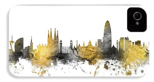 Barcelona Spain Skyline IPhone 4s Case by Michael Tompsett
