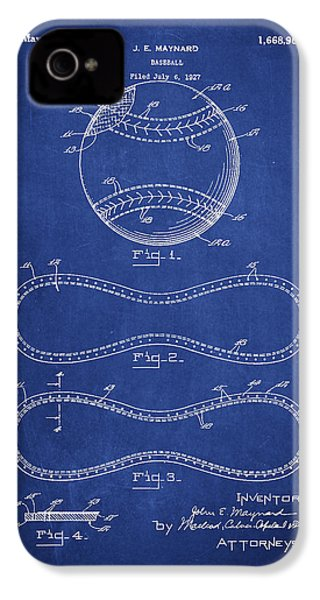 Baseball Patent Drawing From 1927 IPhone 4s Case by Aged Pixel