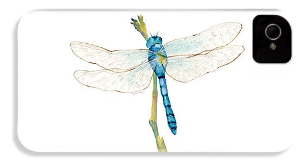 Blue Dragonfly IPhone 4s Case by Amy Kirkpatrick