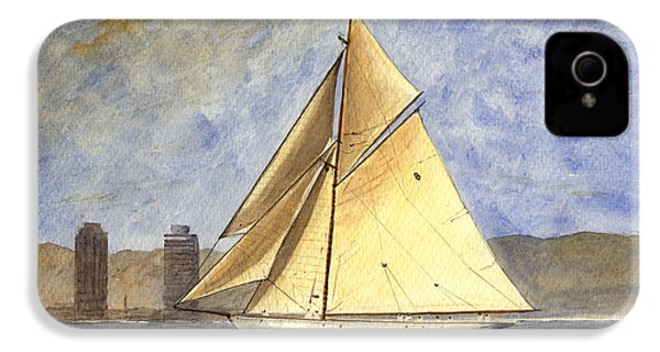 Classic Yacht Barcelona IPhone 4s Case by Juan  Bosco