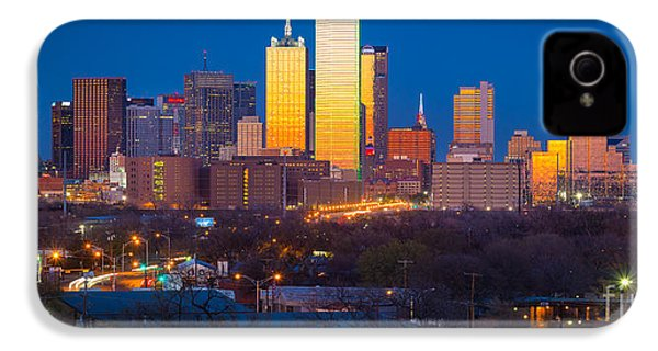 Dallas Skyline IPhone 4s Case by Inge Johnsson