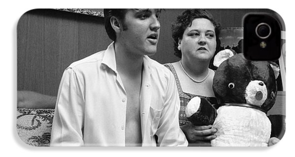 Elvis Presley And His Mother Gladys 1956 IPhone 4s Case by The Harrington Collection