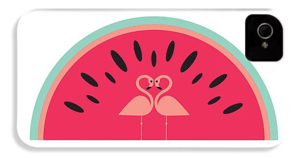 Flamingo Watermelon IPhone 4s Case by Susan Claire