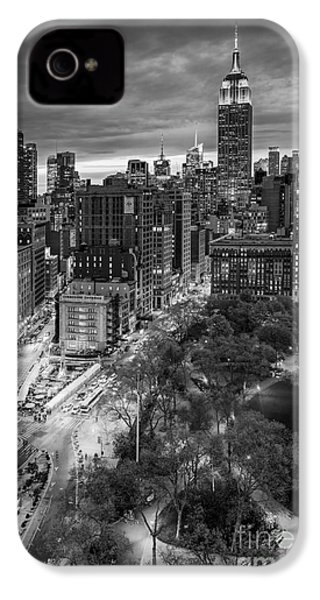 Flatiron District Birds Eye View IPhone 4s Case by Susan Candelario