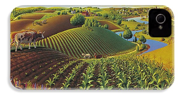 Harvest Panorama  IPhone 4s Case by Robin Moline