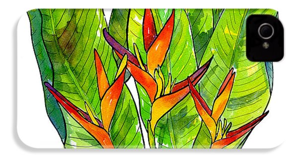 Heliconia IPhone 4s Case by Diane Thornton