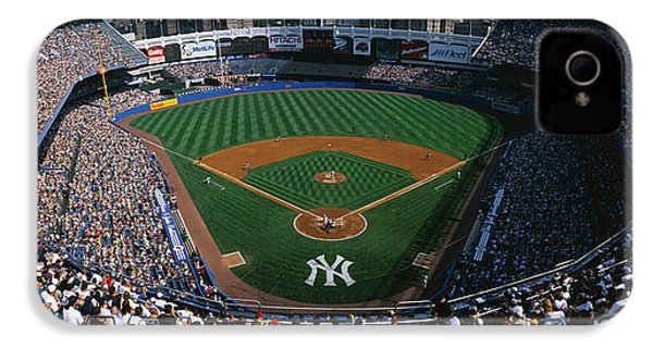 High Angle View Of A Baseball Stadium IPhone 4s Case by Panoramic Images