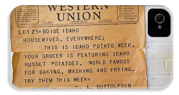 Idaho Potato Museum IPhone 4s Case