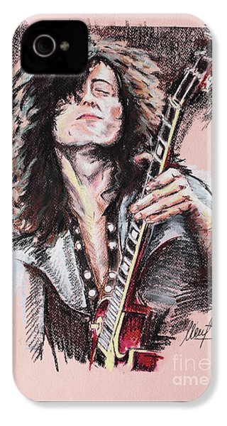 Jimmy Page IPhone 4s Case by Melanie D