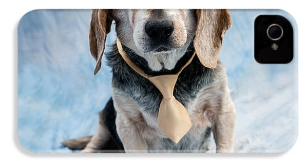 Kippy Beagle Senior And Best Dog Ever IPhone 4s Case by Iris Richardson