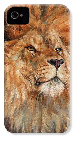 Lion IPhone 4s Case by David Stribbling