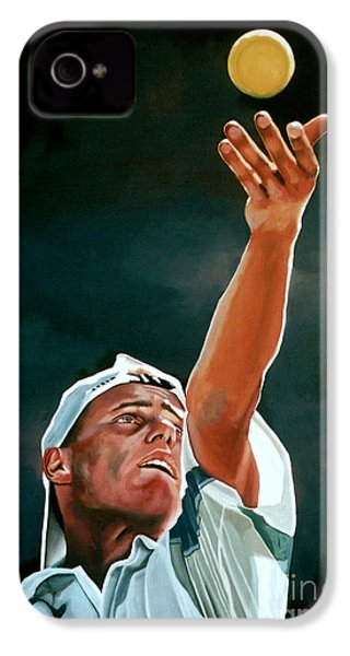 Lleyton Hewitt IPhone 4s Case by Paul Meijering