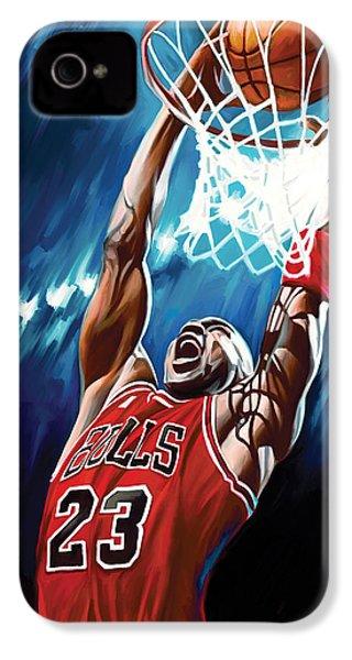 Michael Jordan Artwork IPhone 4s Case by Sheraz A