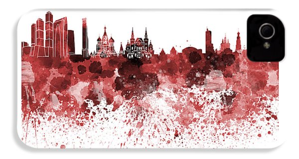 Moscow Skyline White Background IPhone 4s Case