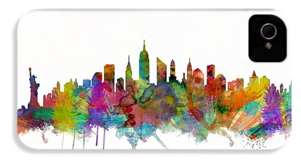 New York City Skyline IPhone 4s Case by Michael Tompsett