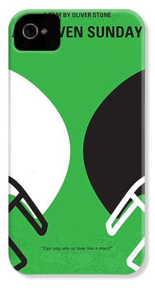 No420 My Any Given Sunday Minimal Movie Poster IPhone 4s Case by Chungkong Art