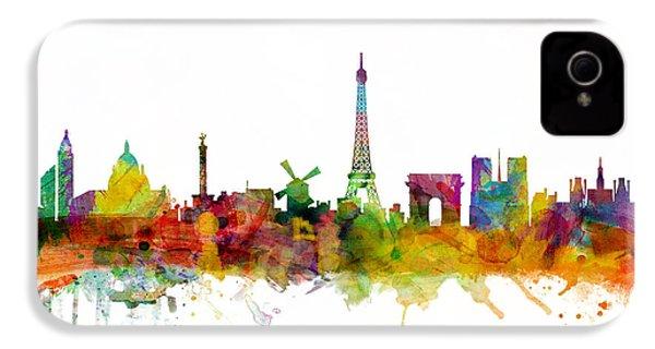 Paris France Skyline IPhone 4s Case by Michael Tompsett