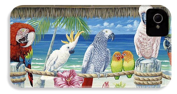 Parrots In Paradise IPhone 4s Case by Danielle  Perry