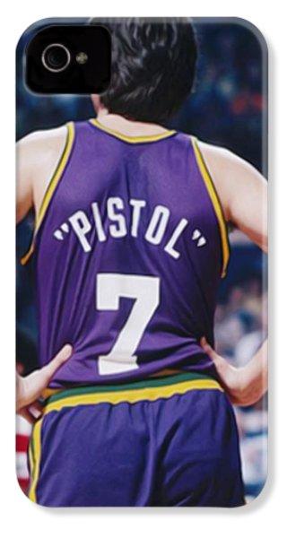 Pistol Pete Maravich IPhone 4s Case by Paint Splat
