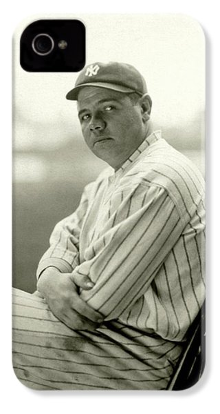 Portrait Of Babe Ruth IPhone 4s Case by Arnold Genthe