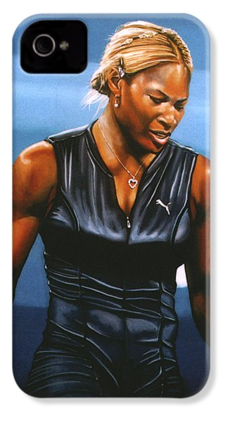 Serena Williams IPhone 4s Case by Paul Meijering