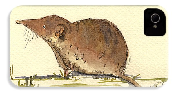Shrew IPhone 4s Case by Juan  Bosco