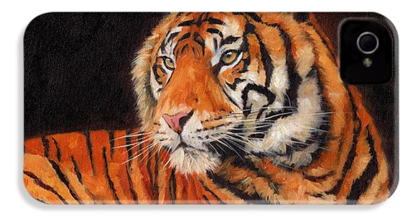 Sumatran Tiger  IPhone 4s Case by David Stribbling