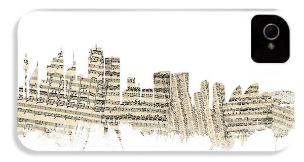 Sydney Australia Skyline Sheet Music Cityscape IPhone 4s Case