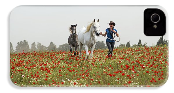 Three At The Poppies' Field... 3 IPhone 4s Case by Dubi Roman