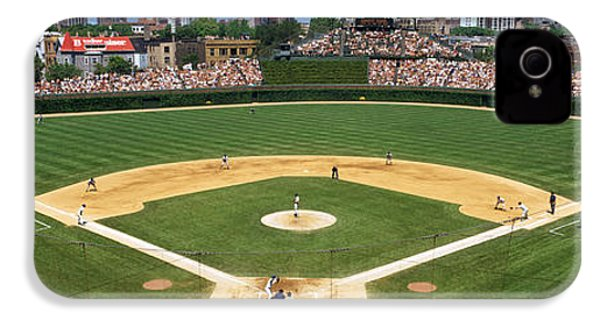 Usa, Illinois, Chicago, Cubs, Baseball IPhone 4s Case by Panoramic Images