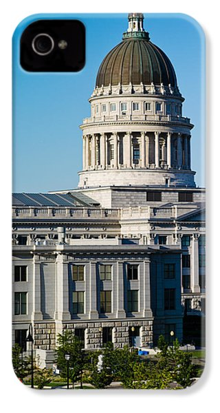 Utah State Capitol Building, Salt Lake IPhone 4s Case by Panoramic Images