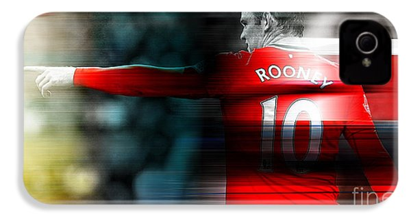 Wayne Rooney IPhone 4s Case by Marvin Blaine