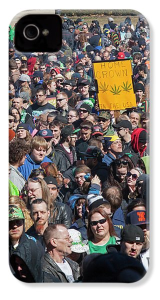 Legalisation Of Marijuana Rally IPhone 4s Case by Jim West
