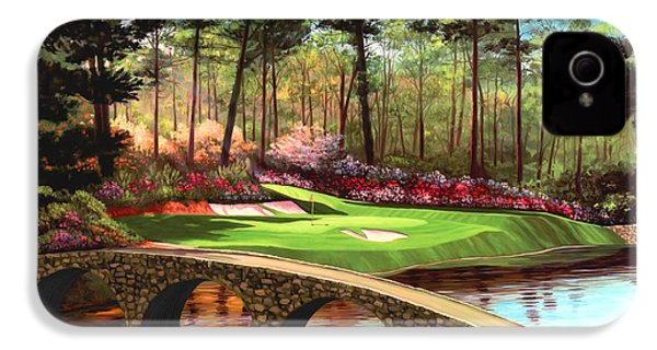 12th Hole At Augusta  IPhone 4s Case by Tim Gilliland