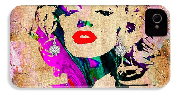 Marilyn Monroe Diamond Earring Collection IPhone 4s Case by Marvin Blaine