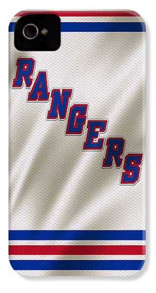 New York Rangers IPhone 4s Case by Joe Hamilton