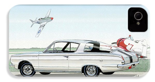1965 Barracuda  Classic Plymouth Muscle Car IPhone 4s Case by John Samsen