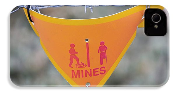 A Warning Sign About Mines IPhone 4s Case by Ashley Cooper
