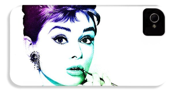Audrey Hepburn IPhone 4s Case by Marianna Mills